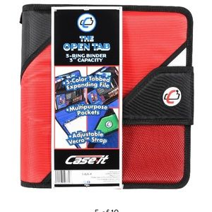 """Case It 2"""" O-Ring Open Tab Binder, Assorted,"""